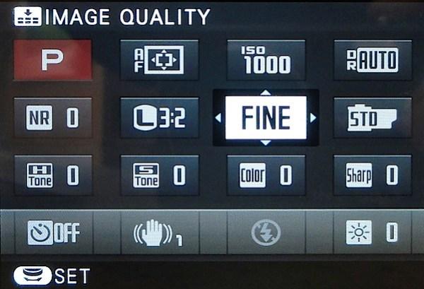 Fujifilm X-M1 Review -Q menu.jpg