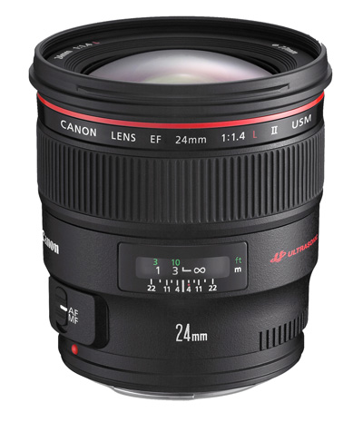 Canon EF 24mm f1.4 wide-angle lens