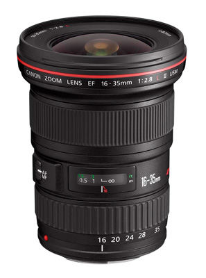 Canon EF 16-35mm f2.8L wide-angle lens