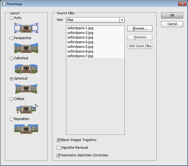 Sending Panorama Sequences from Lightroom to Photoshop  3