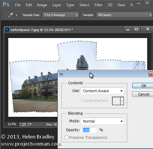 Sending Panorama Sequences from Lightroom to Photoshop 6