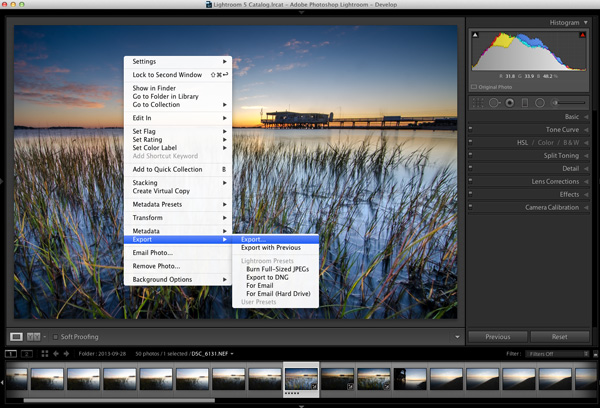 Lightroom Workflow Export