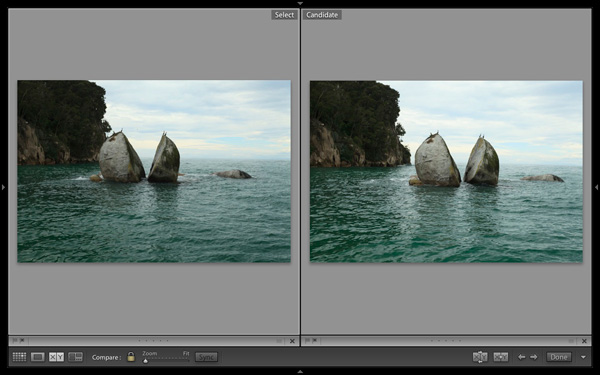 Using Lightroom 5's Compare View