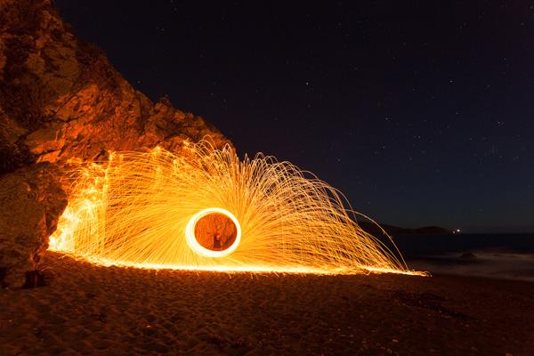 Steel wool spinning