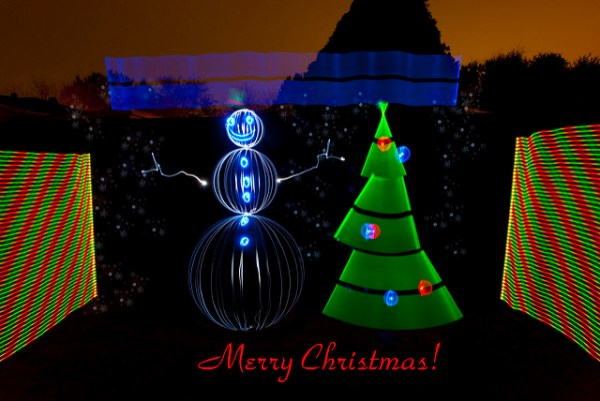 Have a Light Painted Merry Christmas Everyone!