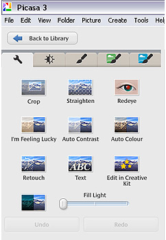 Use the import function to download from a digital camera or portable hard drive