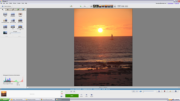 Picasa main screen 01