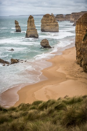 The 12 Apostles on the Australian coast, not the best images but nasty weather and limited time and this is what you get!