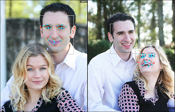 Portrait Plus does a great job of detecting multiple faces within the same image.