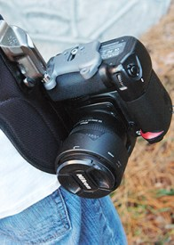 The SpiderPro Holster provides a secure, durable camera-carrying system that takes away the strain caused by traditional camera straps.