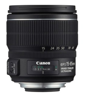 Canon lens with distance scale