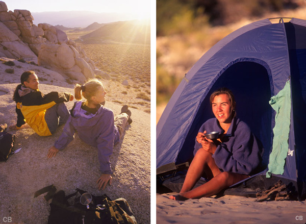 Adventure photography sunrise tent