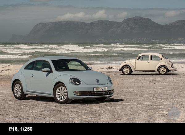 Car photography tips beetle