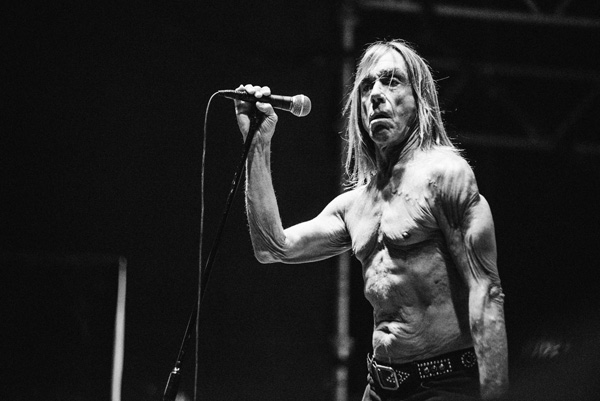 Concert photography Iggy Pop