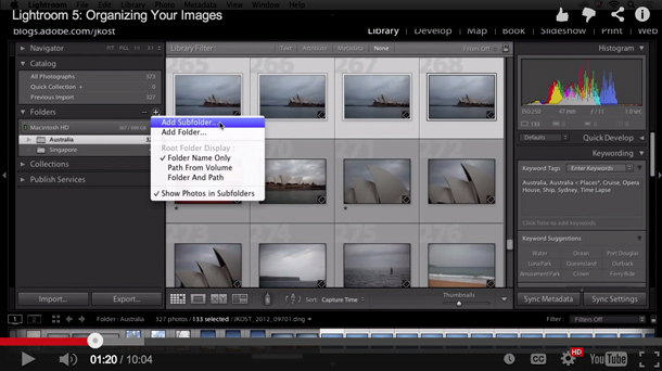 Organizing Images in Lightroom 5