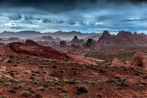 Valley of Fire Storm. 1/1000, f/8, ISO 1600. EOS 5D Mark III with EF 24-70 f/2.8L II. I managed to catch the Valley of Fire on one of the few days it rained all year.