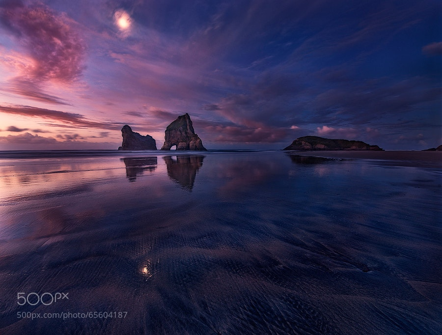 Photograph Golden Bay: When Night Falls by Yan Zhang on 500px