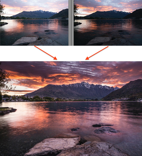 4 exposure blending