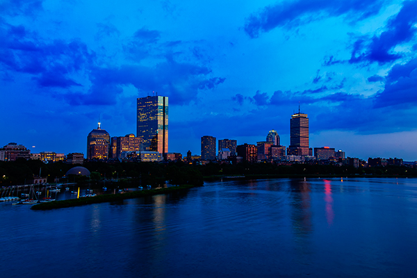 Boston Skyline. EOS 5D Mark II with EF 24-105 f/4L IS. 1 second, f/11, ISO 100.