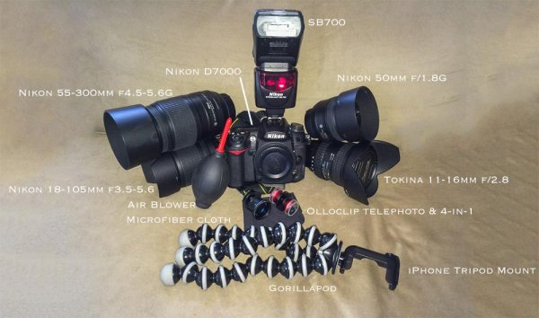 A Look Inside the Bag of a Hobby Photographer on a Budget