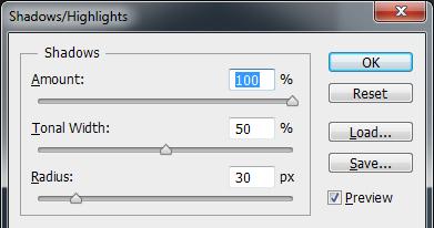 Photoshop Shadows / Highlights