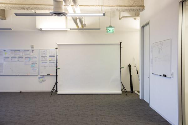 seamless backdrop, studio lights, corporate headshots
