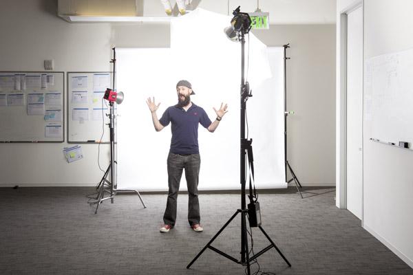 studio lighting, seamless backdrop, corporate headshots
