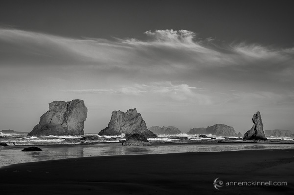Bandon Beach, Oregon, by Anne McKinnell