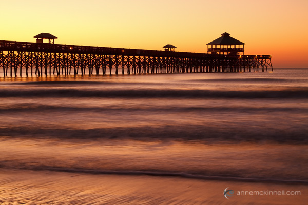 Folly Beach Pier, Charleston, South Carolina by Anne McKinnell