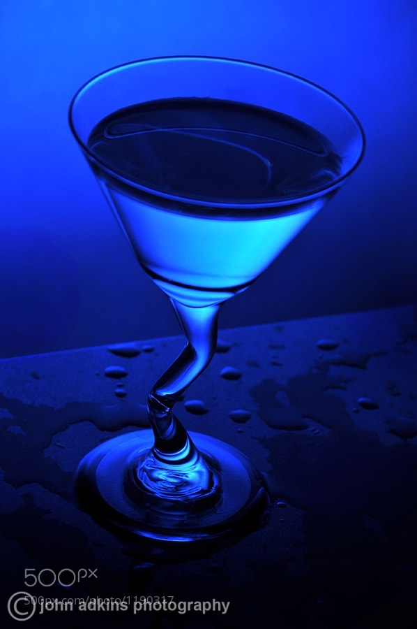 Photograph Blue Martini by John Adkins on 500px