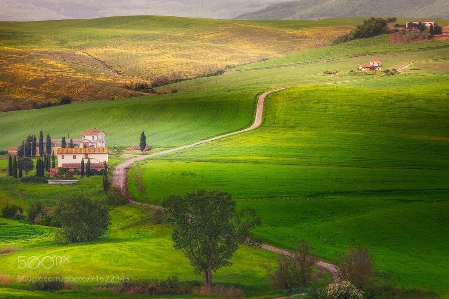 Photograph Tuscan Farmhouses by Alberto Di Donato on 500px