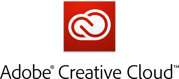 Adobe Creative Cloud logotype with icon RGB vertical