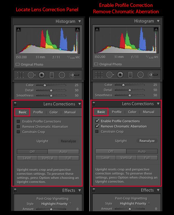 Lens Correction Panel 1