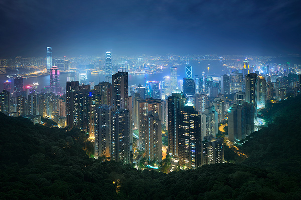 Hong kong the peak view