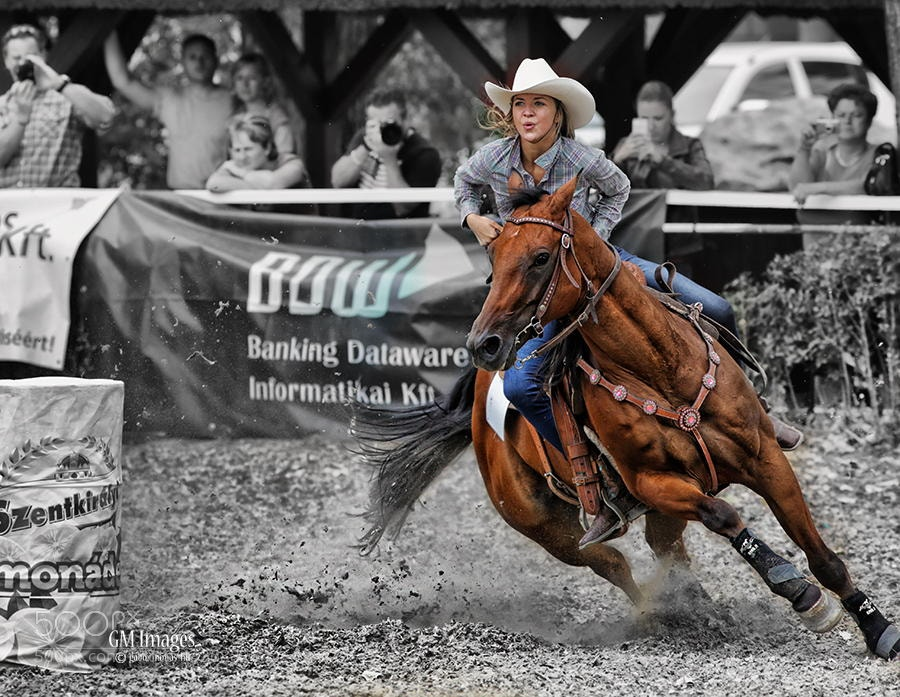 Photograph Barrel racing by Gabor Monos on 500px