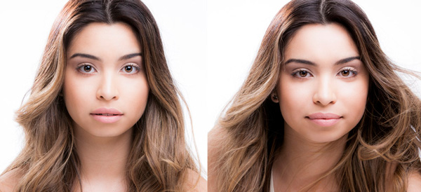 Comparison of portrait photography with bad and good eyes