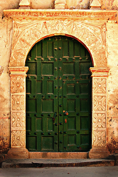A symmetrical doorway