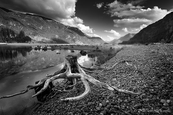 buttle-lake-the-hand-monochrome-conversion