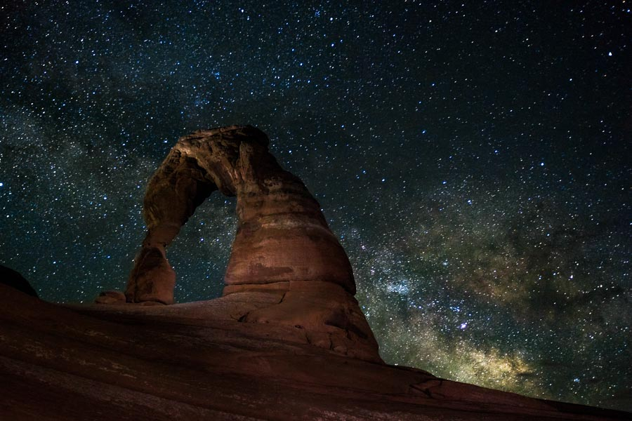 The Milky Way Over Delicate Arch | James Brandon