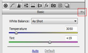 Sve Your Adobe Camera RAW Defaults