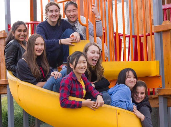 Image B teen girls in playground