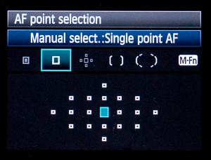 AF point spread