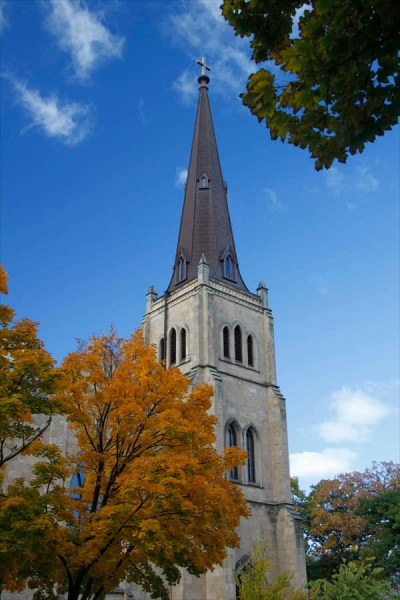 church, fall, autumn, architecture, framing, fall leaves, Tamron18-270mm