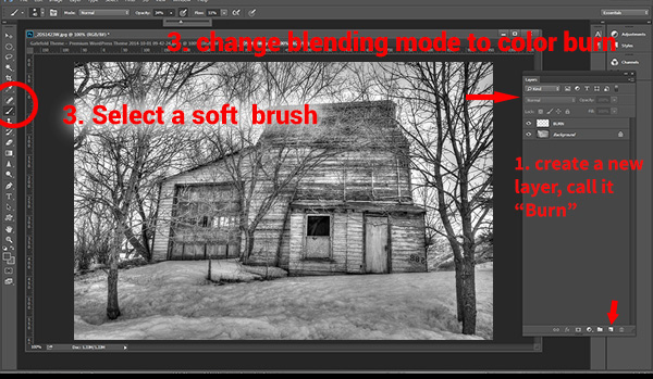 Dodging and Burning to Create More Effective Black and White Images