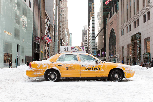 Broken Taxi, 5th Avenue.