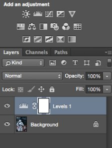 Make and adjustment layer for Levels