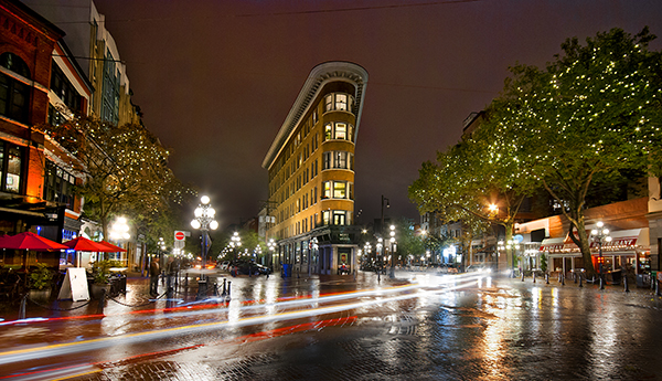 This scene works well because the light trails add some dynamic interest to the image
