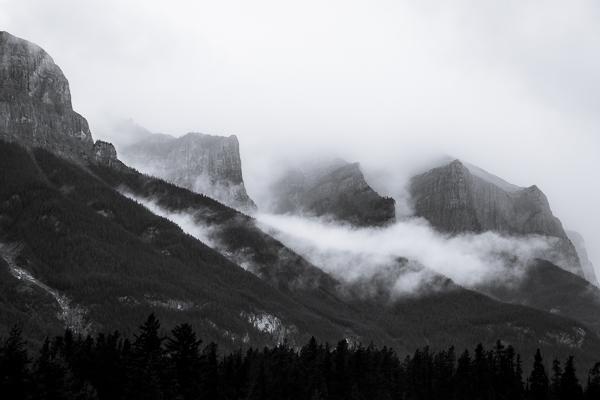 Mountain tops  Banff National Park  Alberta  Canada