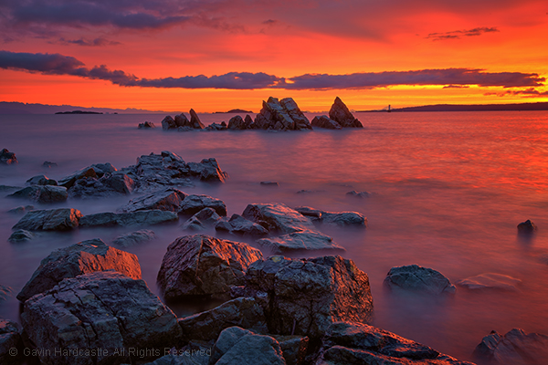 When NOT to use a Polarizer for landscape photography sunset image