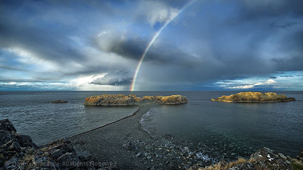Don't use a polarizer when shooting rainbows